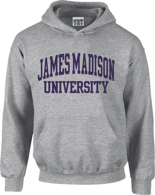 James Madison University Applique Hoodie - Oatmeal