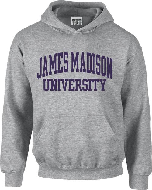 James Madison University Applique Hoodie - Oatmeal