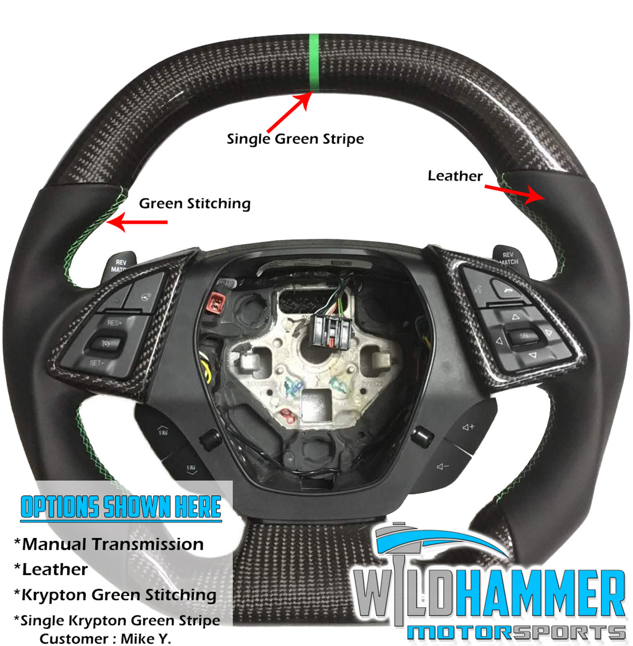 16 20 Make Your Own Camaro Carbon Fiber Steering Wheel Wildhammer Wh11