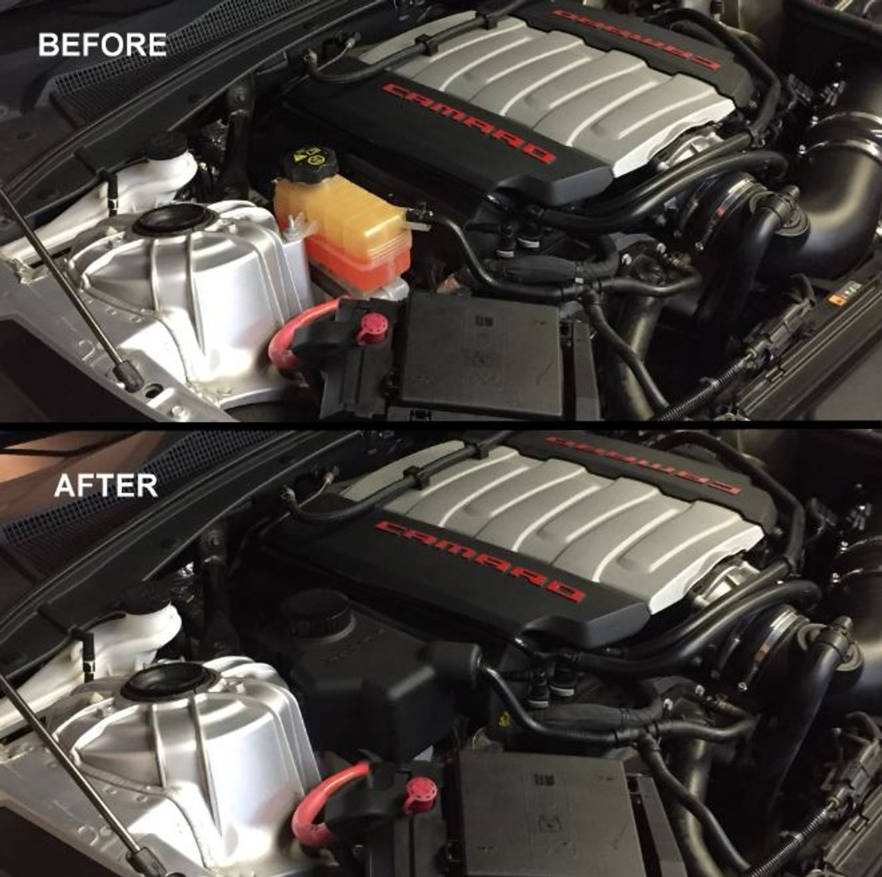 Camaro V6/SS/ZL1 Coolant Expansion Tank Cover - Roto-Fab