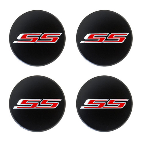Camaro Black SS Center Cap Kit (Includes 4) - General Motors