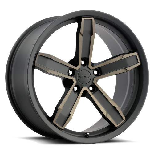 Camaro Z10 IROC Wheel Kit (Satin Black, Machined Face W/ Bronze Clear Coat)(Includes 4, Front & Rear) - Factory Reproductions