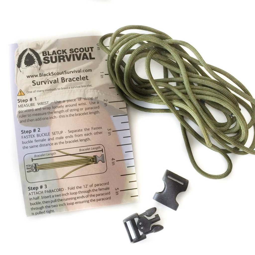 BLACK SCOUT SURVIVAL ™ BRACELET KIT