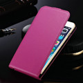 """Hot Pink Apple iPhone 6 / 6S (4.7"""") Cover Genuine leather Flip Case - 1"""
