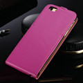 """Hot Pink Apple iPhone 6 / 6S (4.7"""") Cover Genuine leather Flip Case - 2"""