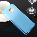 Blue Matte Gel TPU Rubber Case Soft Cover For Samsung Galaxy Note 5