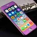 "Purple Apple iPhone 6 / 6S 4.7"" Titanium Frame Tempered Glass Screen Protector - 2"