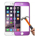 "Purple Apple iPhone 6 / 6S 4.7"" Titanium Frame Tempered Glass Screen Protector - 4"