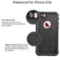 Apple iPhone 5 5S Waterproof Dirtproof Heavy Duty Case - Black - 6