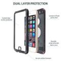 Apple iPhone 6 / 6S Waterproof Dirtproof Shock Proof Case - Black - 4