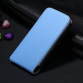 Blue Genuine Leather Flip Case For Apple iPhone 4 / 4S - 1