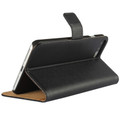 Black Genuine Leather Wallet Case for Apple iPhone 7 Plus - 3