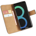 Samsung Galaxy S8 Genuine Leather Wallet Case Cover - Black - 1