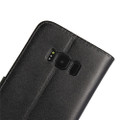 Samsung Galaxy S8 Genuine Leather Wallet Case Cover - Black - 4
