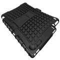 Black iPad 2017 Heavy Duty Hybrid Kickstand Protective Cover Case - 3