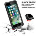 Apple iPhone 7 Waterproof Dirtproof Heavy Duty Case Cover - Black - 4