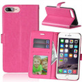 Apple iPhone X Hot Pink Synthetic Leather Wallet Case With Card Slots - 1