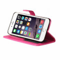 Apple iPhone X / XS Hot Pink Synthetic Leather Wallet Case With Card Slots - 2