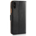 Apple iPhone X / XS Genuine Leather Business Wallet Smart Case Cover - Black - 3