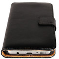 Black Genuine Leather Business Wallet Smart Case For Samsung Galaxy S8 Plus - 2