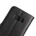 Black Genuine Leather Business Wallet Smart Case For Samsung Galaxy S8 Plus - 4