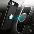 Black 360 Degree Ring Stand Magnetic Armor Case for iPhone 7 / 8 - 3