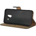 Black Samsung Galaxy J2 Pro Genuine Leather Business Wallet Case - 3