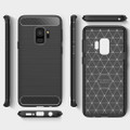 Black Samsung Galaxy S9 Slim Armor Carbon Fibre Case Cover - 3