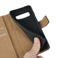 Black Genuine Leather Business Wallet Case For Samung Galaxy S10 - 2