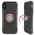 Black iPhone XS Max Magnetic 360 Degree Ring Shock Proof Case - 2