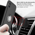 Black iPhone XS Max Magnetic 360 Degree Ring Shock Proof Case - 4