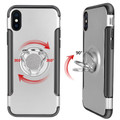 Silver iPhone XS Max Metal Circle 360 Degree Ring Protective Case - 2