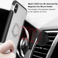 Silver iPhone XS Max Metal Circle 360 Degree Ring Protective Case - 4