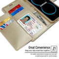 Gold Genuine Mercury Rich Diary Quality Wallet Case For Galaxy S8 Plus - 4