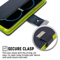 Quality Galaxy S8 Genuine Mercury Rich Diary Wallet Case - Navy - 3