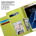 Business Galaxy S6 Edge Genuine Mercury Rich Diary Wallet Case - Navy - 4
