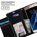Black Genuine Mercury Rich Diary Quality Wallet Case For Galaxy S6 - 5