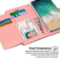 Hot Pink Mercury Rich Diary Premium Wallet Case For iPhone X / XS - 4