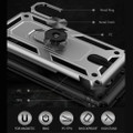 Black Galaxy A70 Slim Shock Proof 360 Rotating Metal Ring Stand Case - 3