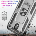 Black Galaxy A70 Slim Shock Proof 360 Rotating Metal Ring Stand Case - 5