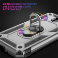 Black Galaxy A70 Slim Shock Proof 360 Rotating Metal Ring Stand Case - 7