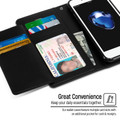 Black Genuine Mercury Rich Diary Wallet Case Cover For iPhone 6 / 6S - 5