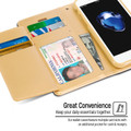 Shiny Gold Genuine Mercury Rich Diary Wallet Case For iPhone 6 / 6S - 4