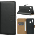 Samsung Galaxy A30 Genuine Leather Business Wallet Smart Case - Black - 2
