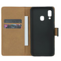 Samsung Galaxy A30 Genuine Leather Business Wallet Smart Case - Black - 5