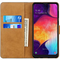 Samsung Galaxy A50 Genuine Leather Business Wallet Smart Case - Black - 2
