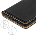 Samsung Galaxy A50 Genuine Leather Business Wallet Smart Case - Black - 6