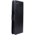 Black Premium Litchi Wallet Textured Wallet Case For Oppo R9 Plus - 4