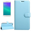 Aqua Quality Modern Litchi Wallet Textured Wallet Case For Oppo R9S - 2