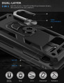 Black Slim 360 Rotating Metal Ring Armor Stand Case For Galaxy S10 5G - 2